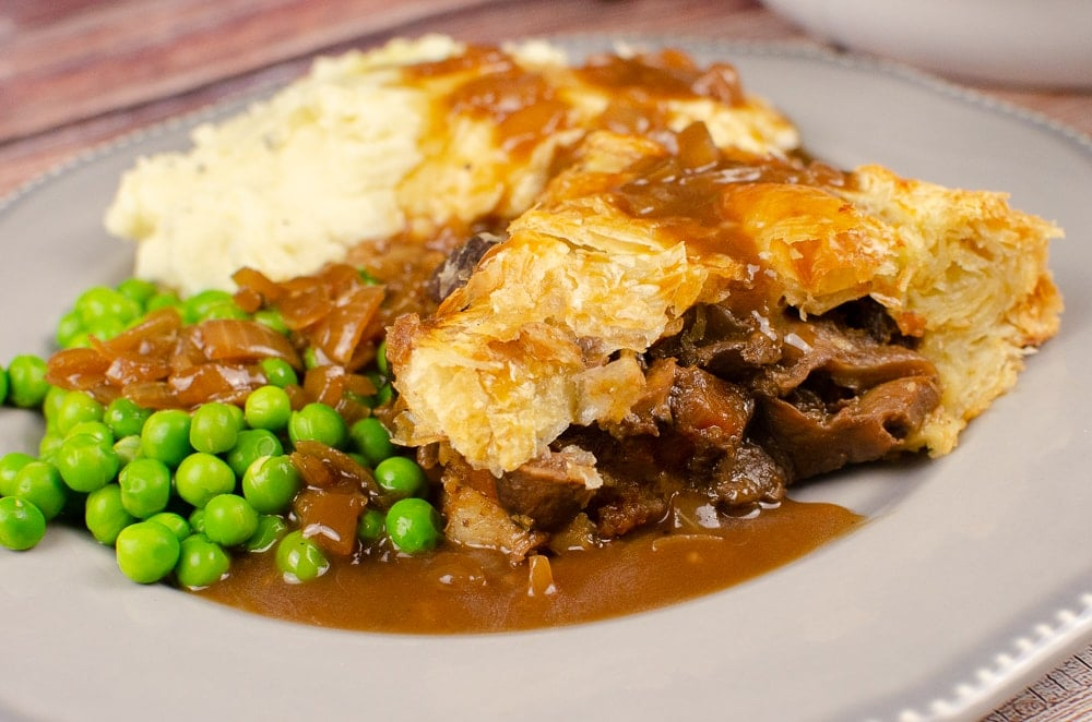 Steak and Mushroom Ale Pie - British Style Pub Food