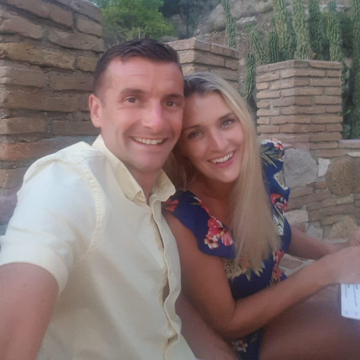 Luke and kay selfie picture on holiday in Greece