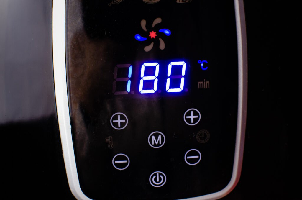 180°c temperature on our air fryer to cook the sausages
