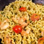 Pesto King prawn pasta