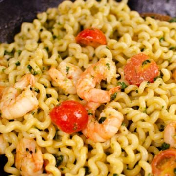 Pesto King prawn pasta