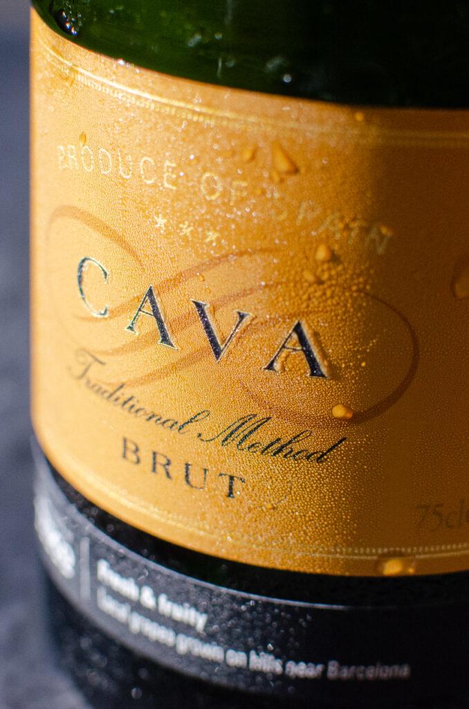 Bottle of cava brut