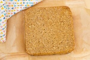 Easy Flapjacks Recipe on brown parchment paper